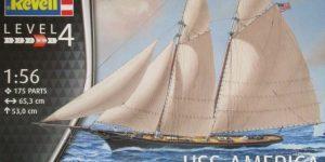 Yacht USS America im Maßstab 1:56 von Revell (# 05416 )