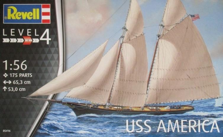 Revell-05416-USS-America-4 Yacht USS America im Maßstab 1:56 von Revell (# 05416 )