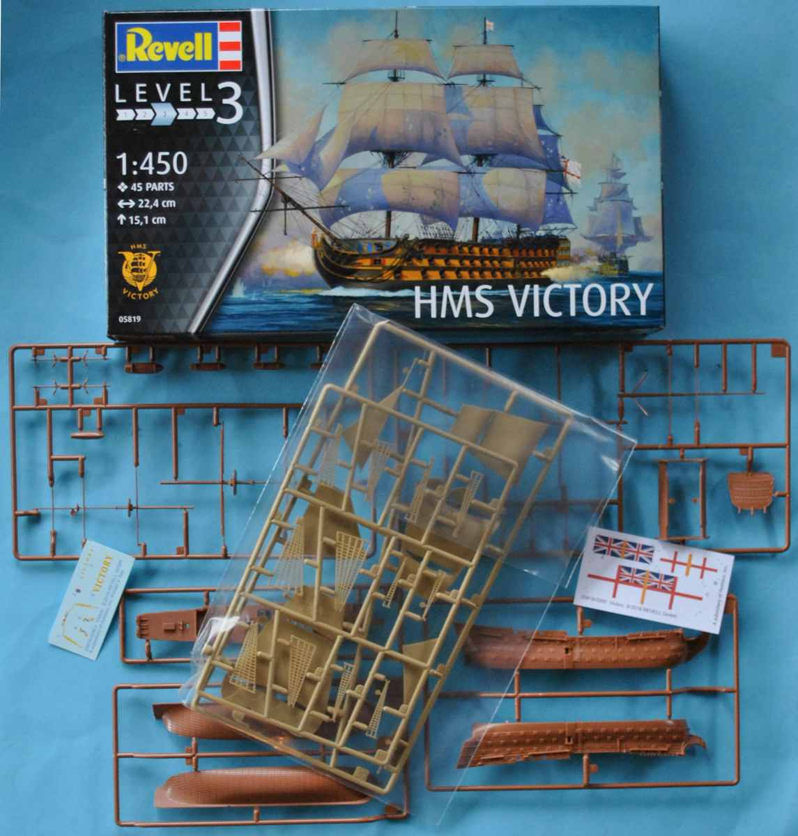 Revell-05819-HMS-Victory-10 Admiral Nelson´s Flagship HMS Victory (Revell 1:450 # 05819 9