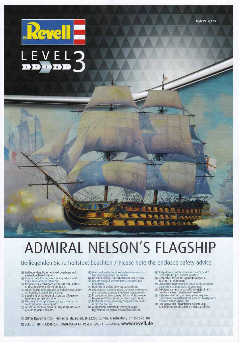 Revell-05819-HMS-Victory-2 Admiral Nelson´s Flagship HMS Victory (Revell 1:450 # 05819 9