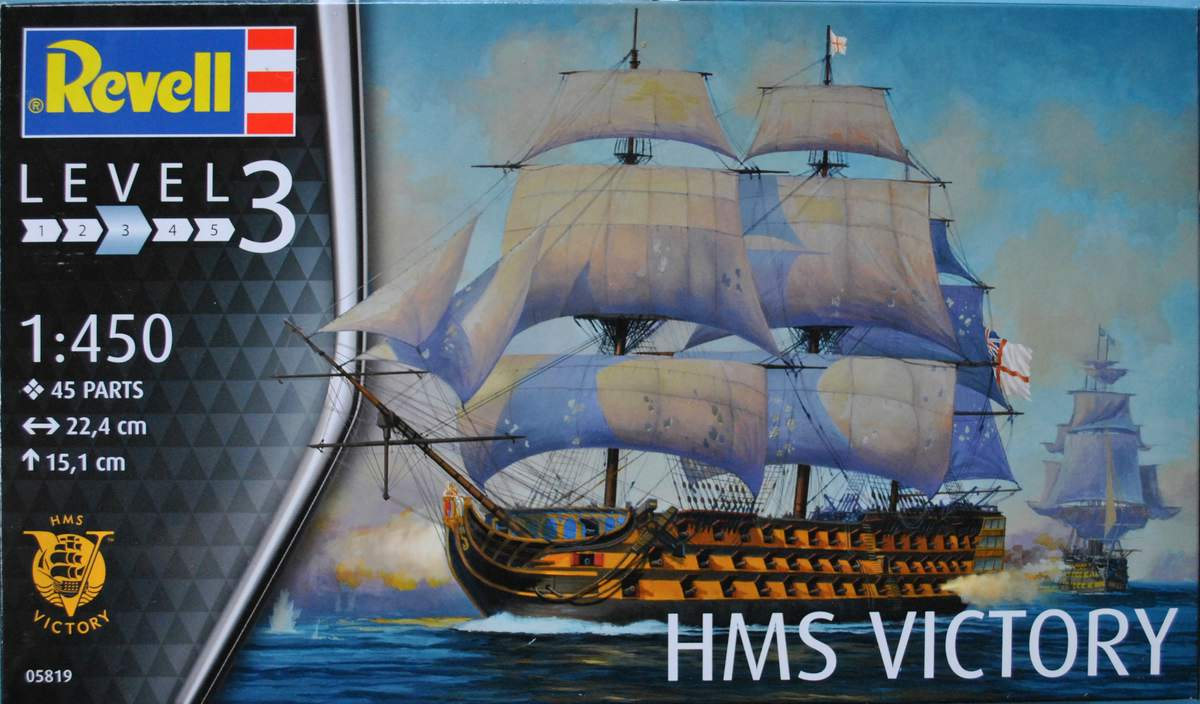 Revell-05819-HMS-Victory-26 Admiral Nelson´s Flagship HMS Victory (Revell 1:450 # 05819 9