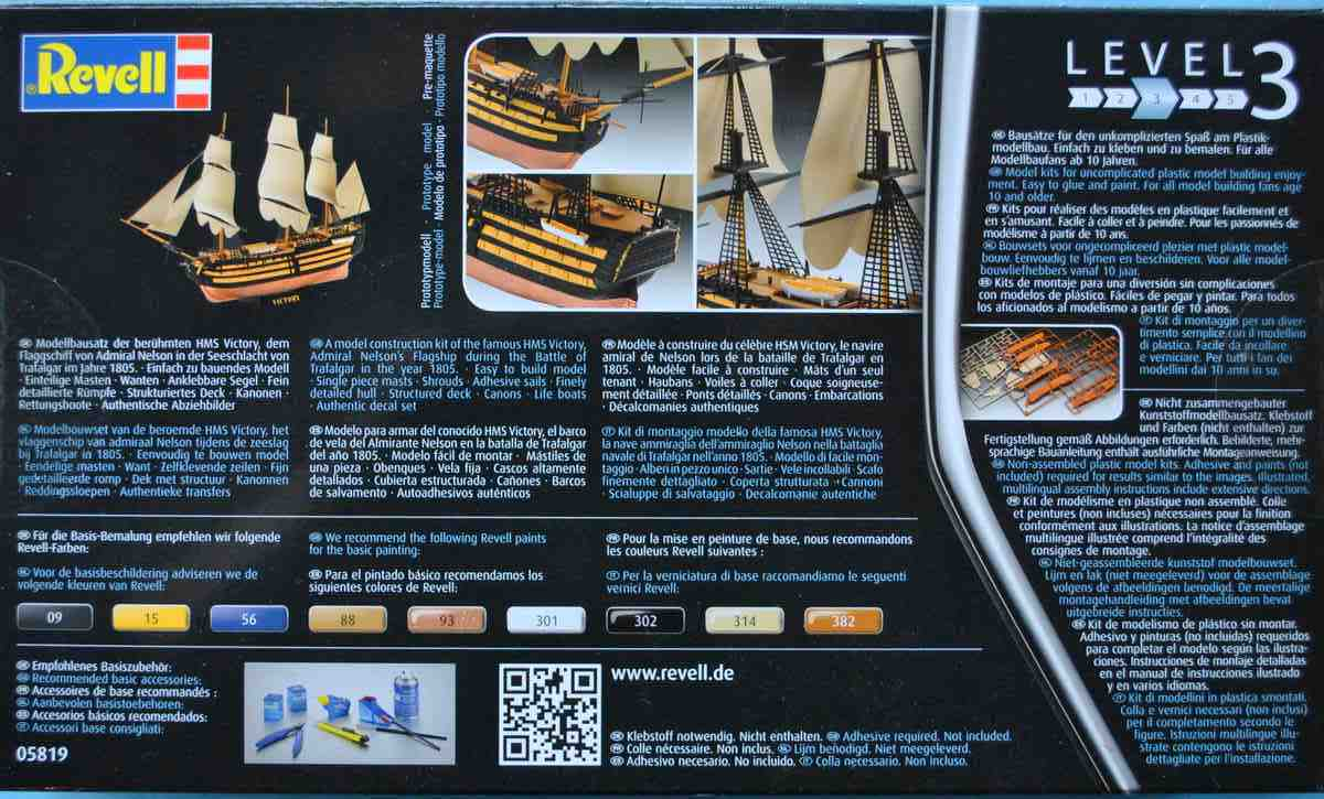 Revell-05819-HMS-Victory-27 Admiral Nelson´s Flagship HMS Victory (Revell 1:450 # 05819 9