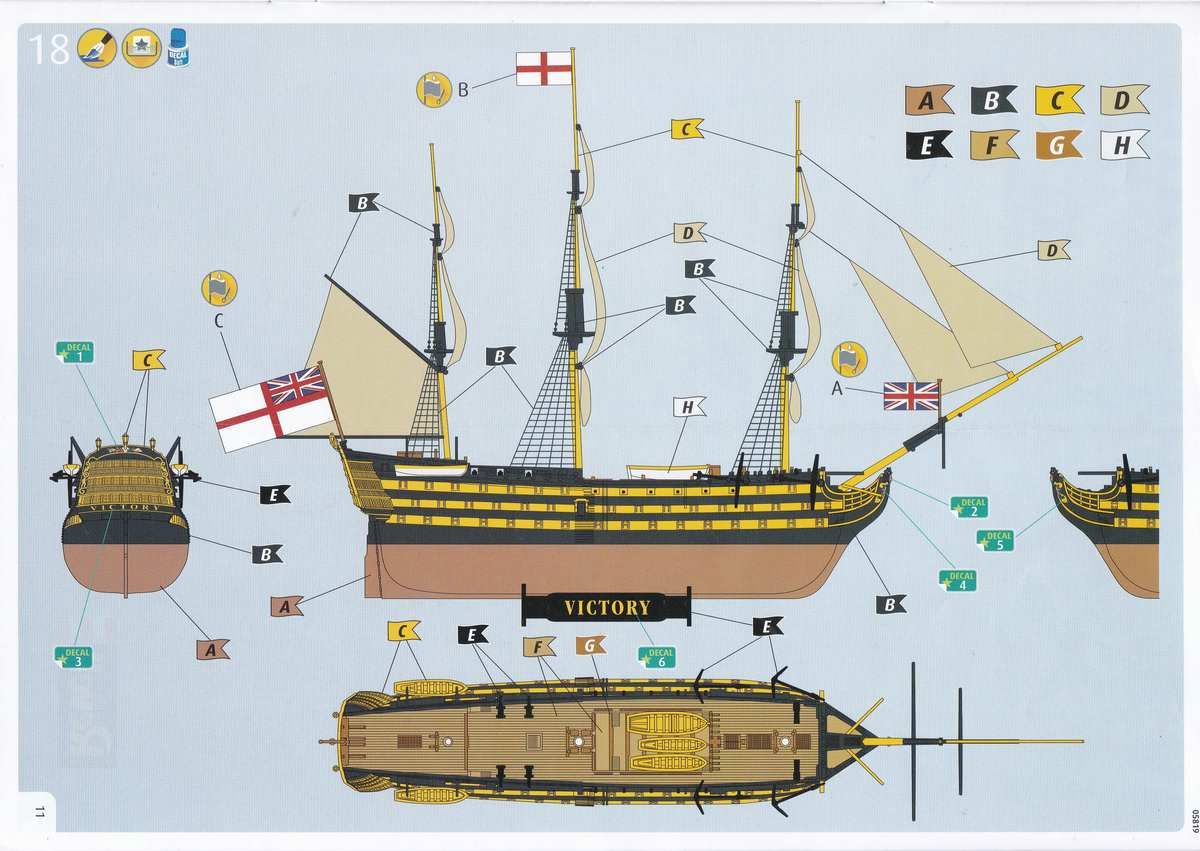 Revell-05819-HMS-Victory-9 Admiral Nelson´s Flagship HMS Victory (Revell 1:450 # 05819 9