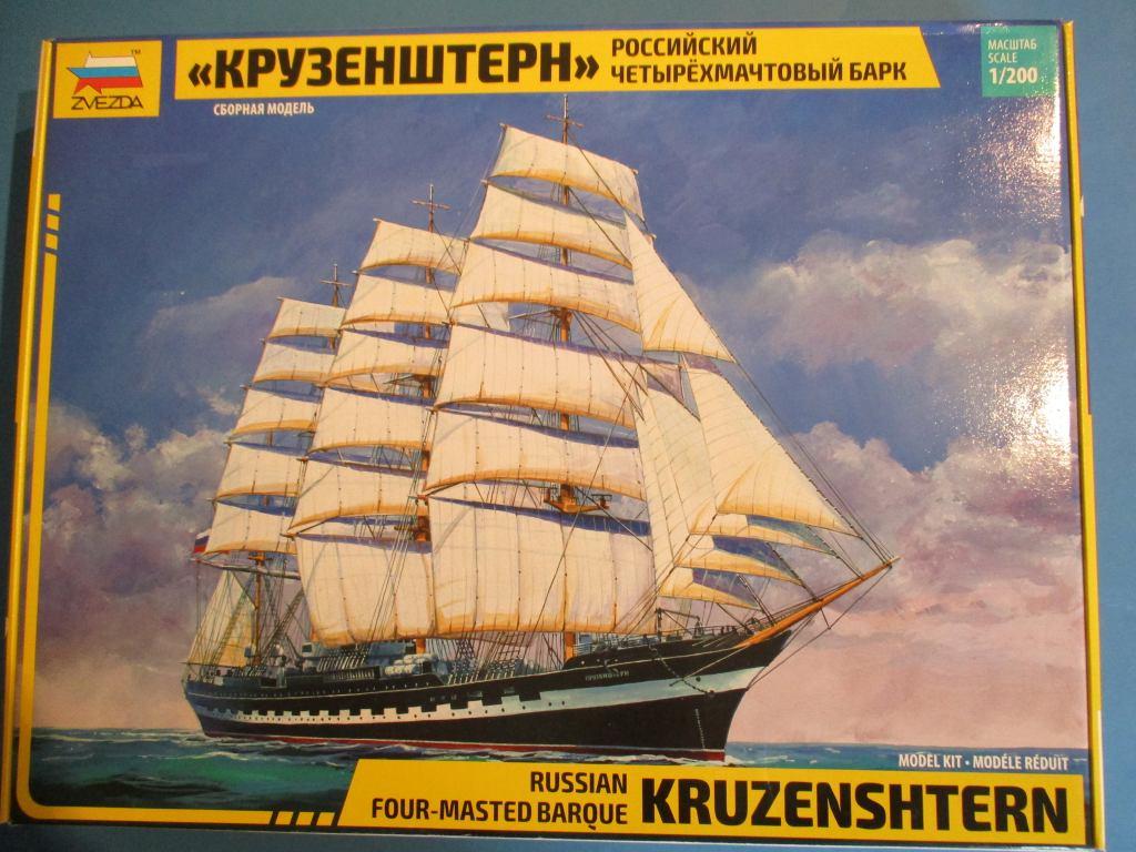 """Zvezda-9045-Kruzenshtern-1 Viermastbark """"Kruzenshtern"""" von Zvezda in 1:200 ( # 9045)"""