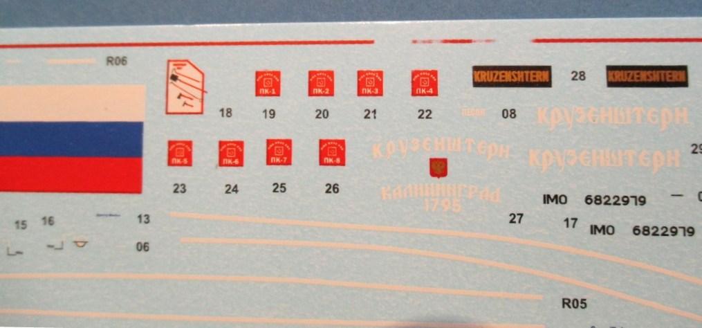 """Zvezda-9045-Kruzenshtern-21 Viermastbark """"Kruzenshtern"""" von Zvezda in 1:200 ( # 9045)"""