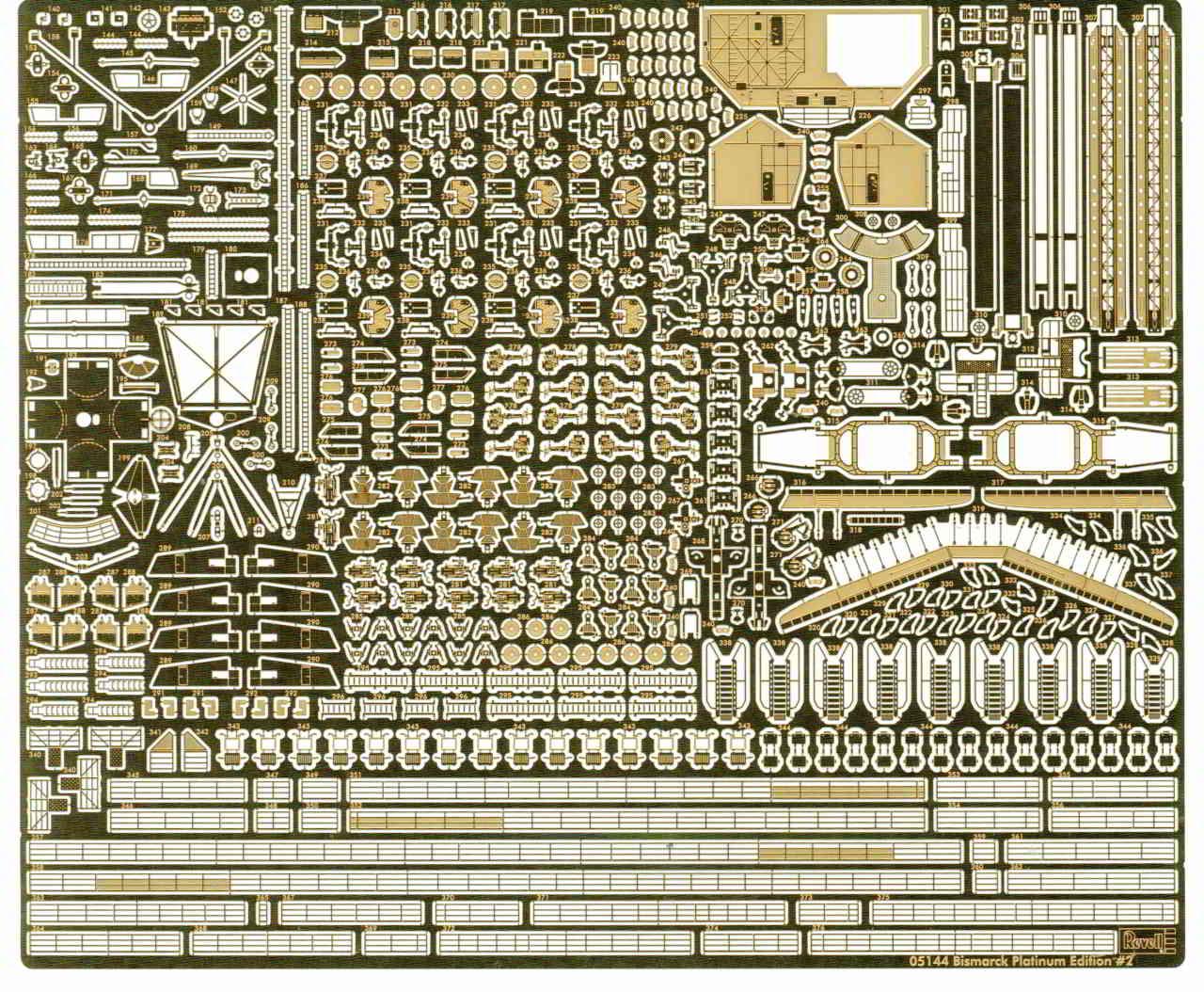 01_PE_Kleinteile Bismarck Platinum Edition von Revell 1:350