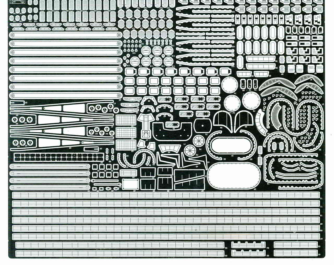 03_PE_Relings Bismarck Platinum Edition von Revell 1:350