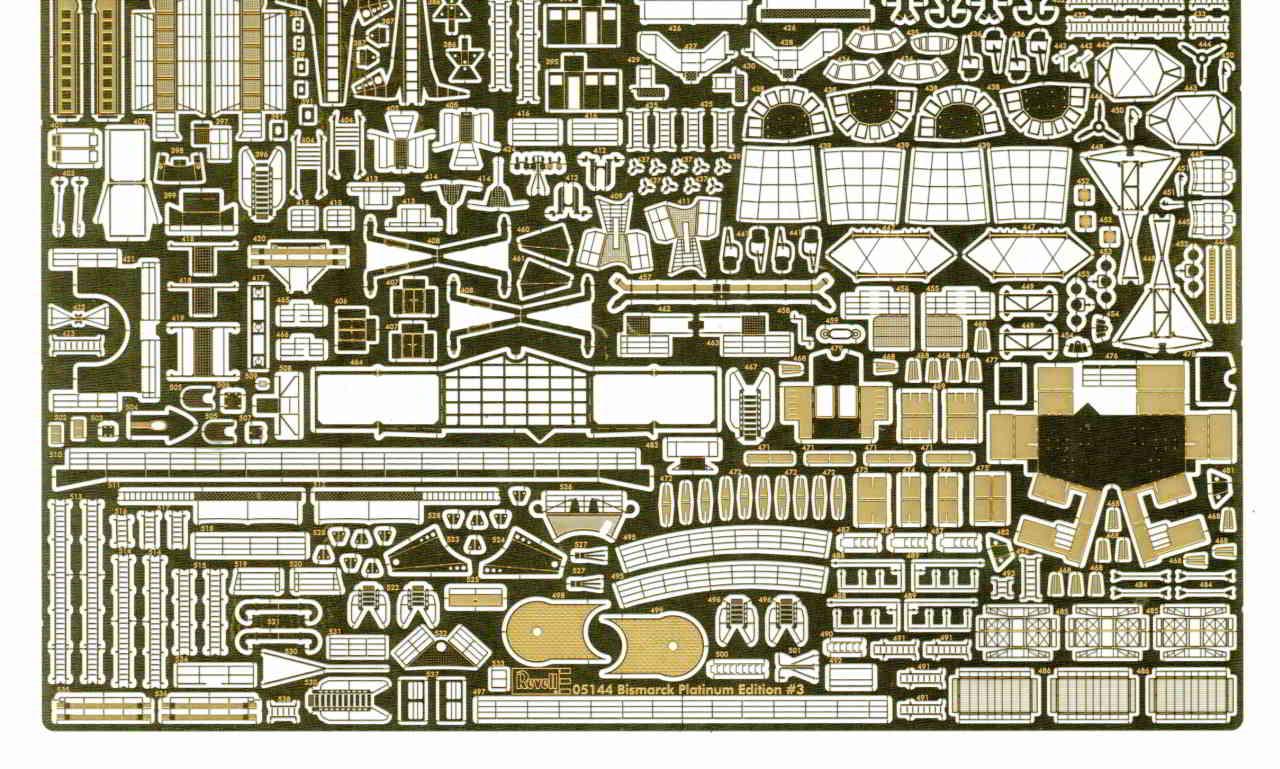 04_PE_Zubehör Bismarck Platinum Edition von Revell 1:350