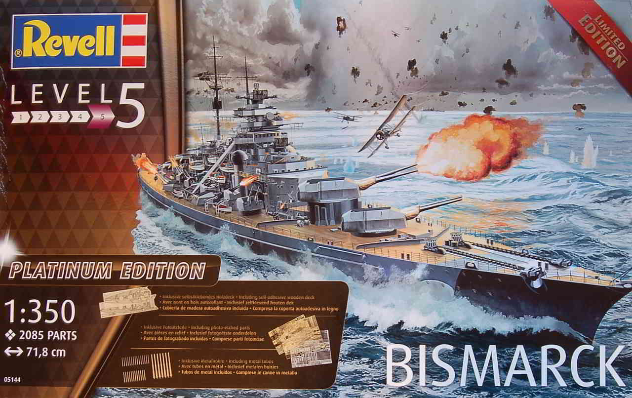 11_Boxart Bismarck Platinum Edition von Revell 1:350