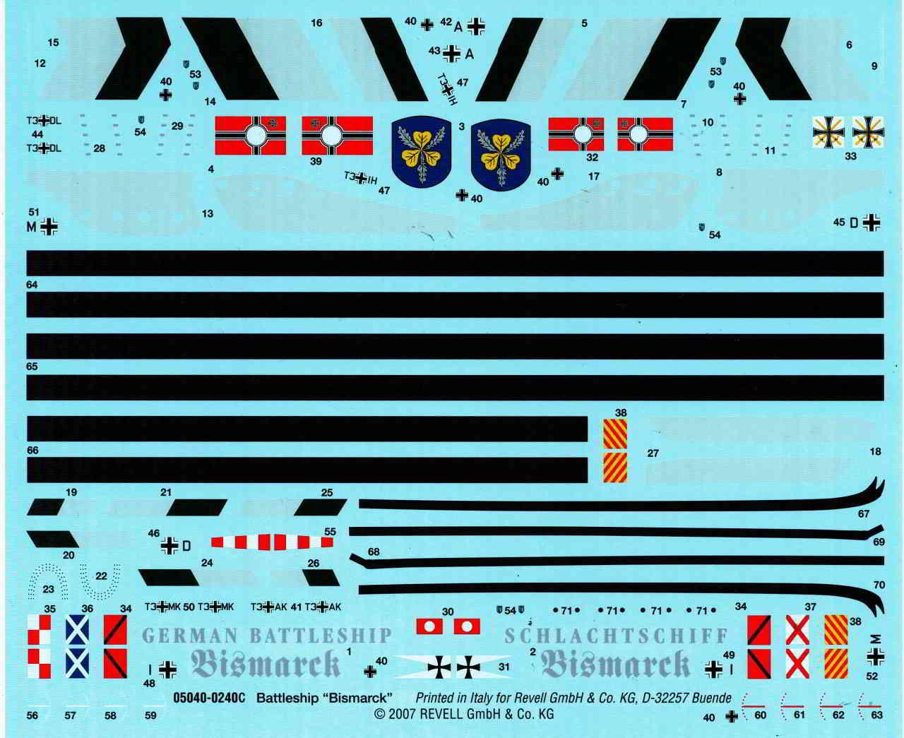 17_Bismarck_Decal Bismarck Platinum Edition von Revell 1:350