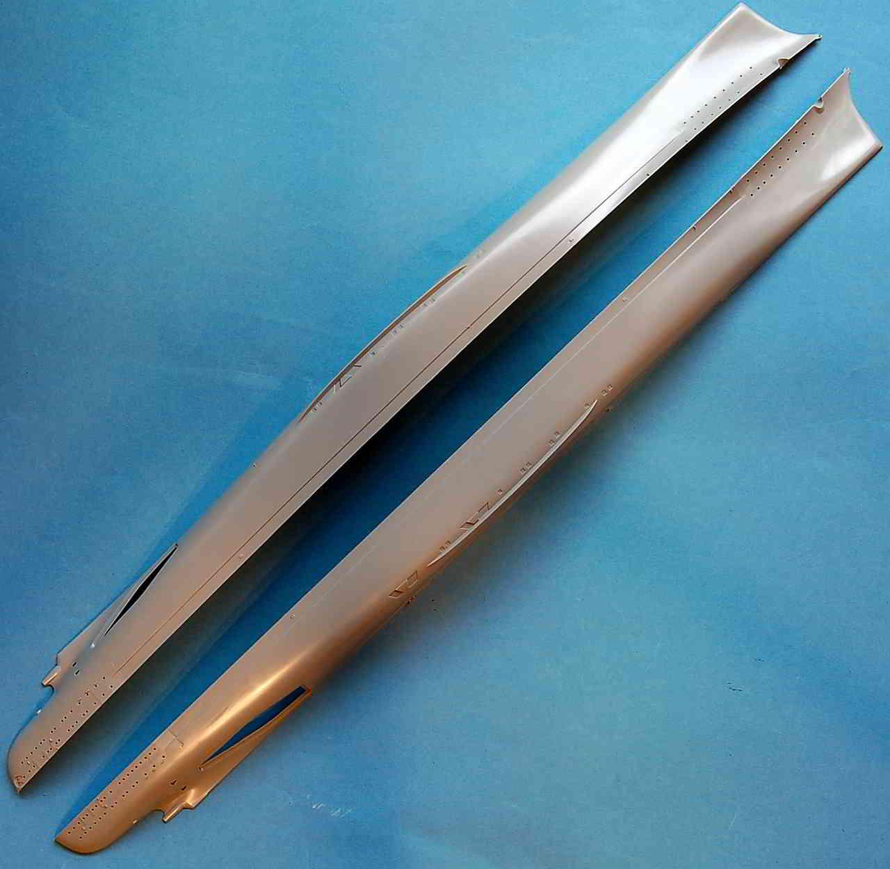 21_Spritzlinge_Rumpf Bismarck Platinum Edition von Revell 1:350
