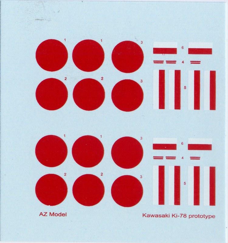 """AZModel-7302-Ki-78-10 Kawasaki Ki-78 """"Ken"""" von AZ Model 1:72 ( 7302 )"""