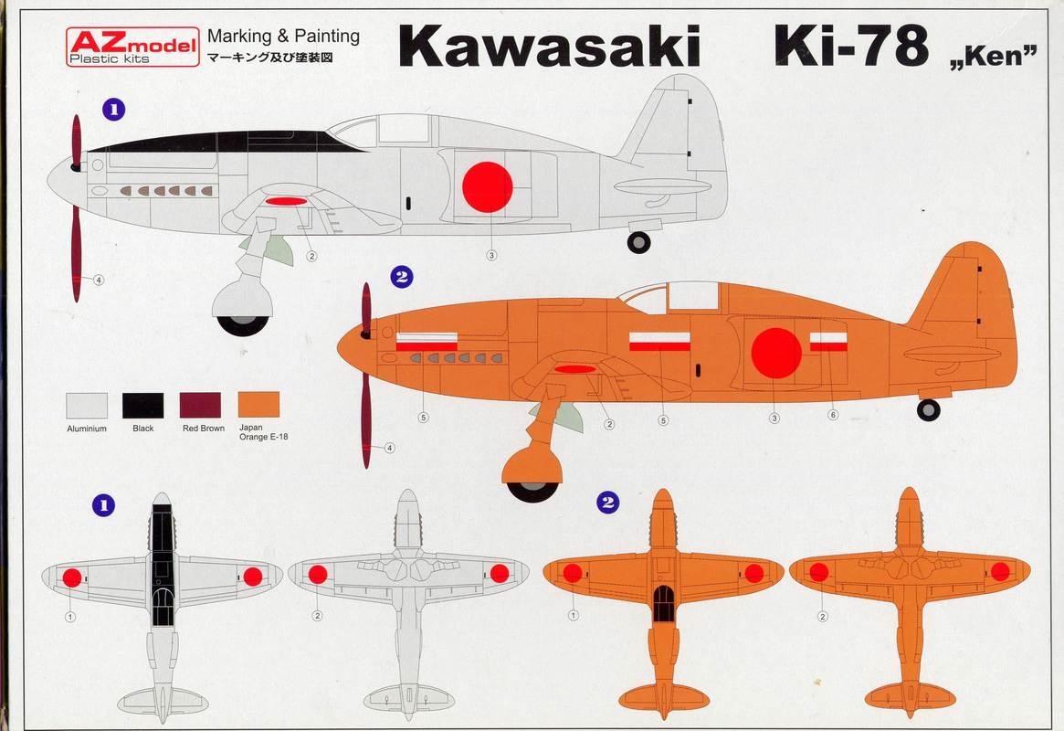 """AZModel-7302-Ki-78-9 Kawasaki Ki-78 """"Ken"""" von AZ Model 1:72 ( 7302 )"""