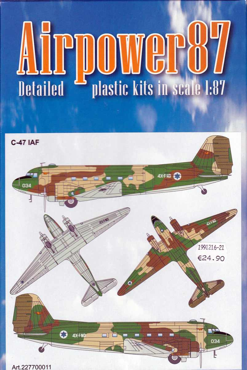 ArsenalM-227700011-C-47-IAF-9 Douglas C-47 Israelische Luftwaffe (ArsenaM 227700011) im Maßstab 1:87