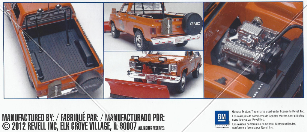 Box-1 GMC Pickup with Snow Plow 1:24 Revell USA (#7222)