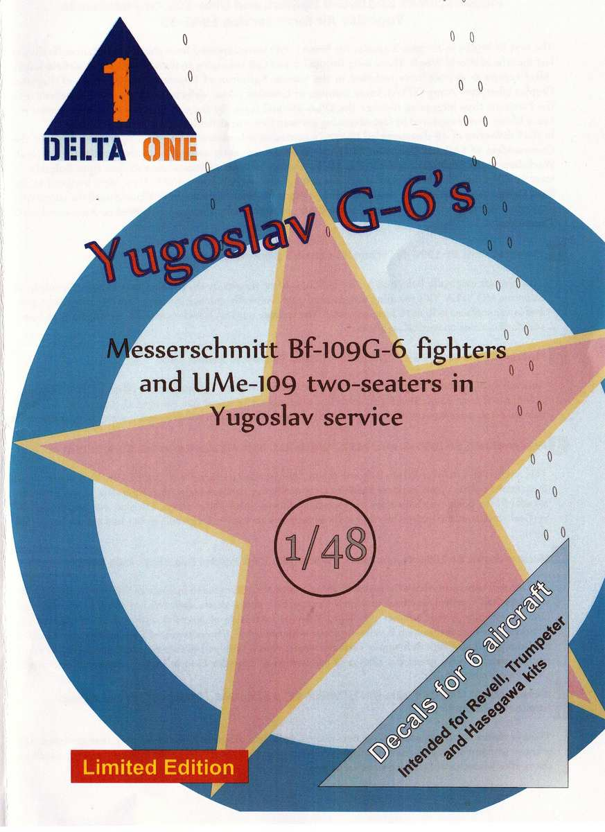 Delta-One-Decals-Yugoslav-G-6-1zu48-6 Delta One decals: Yugoslav G-6´s im Maßstab 1:48
