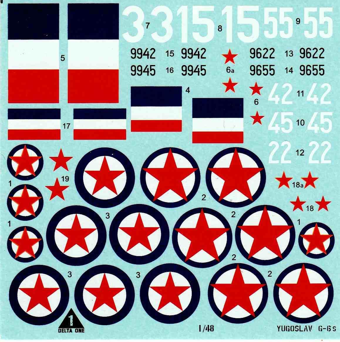 Delta-One-Decals-Yugoslav-G-6-1zu48-8 Delta One decals: Yugoslav G-6´s im Maßstab 1:48