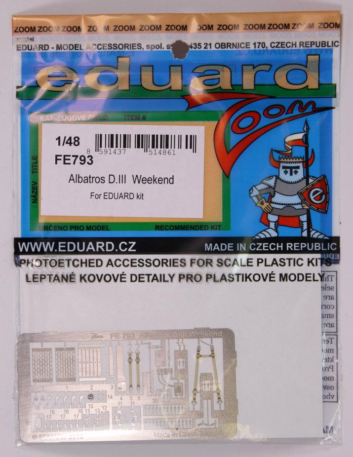 Eduard_Albatros_WE_ZOOM_01 Albatros D.III und ZOOM PE-Set - 1/48 - Eduard Weekend Edition --- #8438 und #FE793