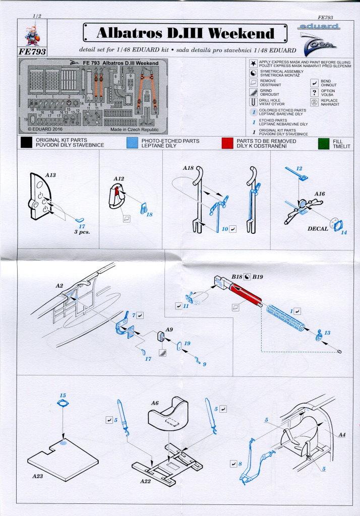 Eduard_Albatros_WE_ZOOM_03 Albatros D.III und ZOOM PE-Set - 1/48 - Eduard Weekend Edition --- #8438 und #FE793