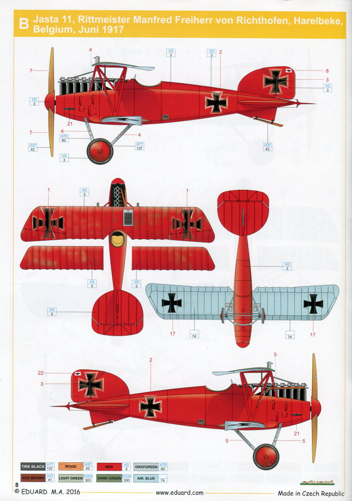 Eduard_Albatros_Weekend_2016_13 Albatros D.III und ZOOM PE-Set - 1/48 - Eduard Weekend Edition --- #8438 und #FE793