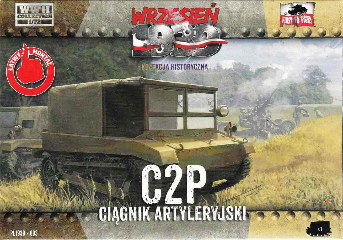 First-to-Fight-C2P-5 polnischer Artillerieschlepper C2P von First to Fight (1:72)