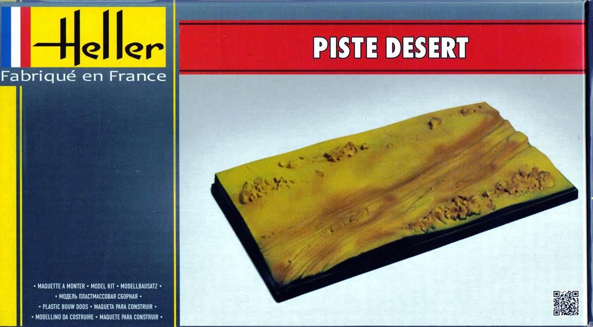 Heller-81253-Piste-Desert-6 Dioramenplatten von Heller