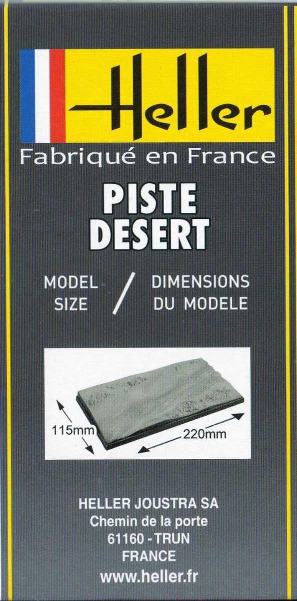 Heller-81253-Piste-Desert-7 Dioramenplatten von Heller