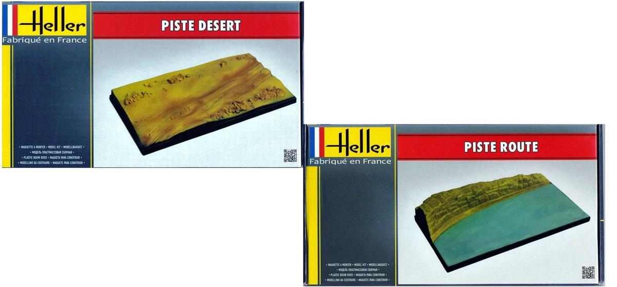 Heller-Piste-Route-et-Desert Dioramenplatten von Heller
