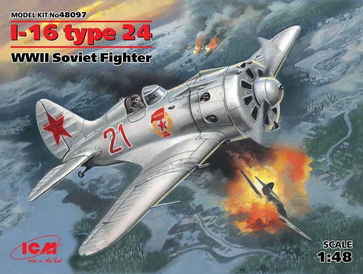 ICM-48097-Polikarpov-I-16-Typ-24-11-1 Polikarpov I-16 Typ 24 in 1:48 von ICM (#48097)