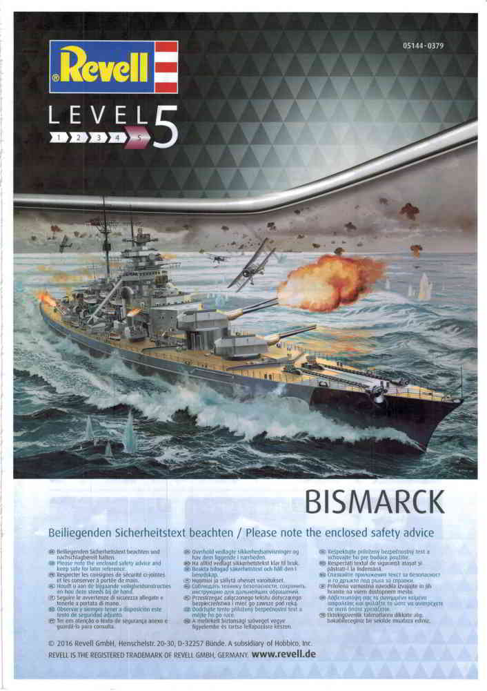 Revell-05144-Bismarck-Platinum-01_Bauanleitung_01 Bismarck Platinum Edition von Revell 1:350