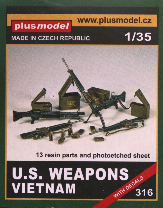 11 U.S. Weapons Vietnam plus model 316 (1:35)