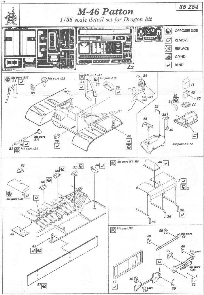 Anleitung1-1 M46 Patton Eduard 35 254 (1:35)