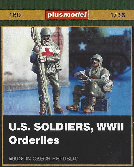 Box-1 U.S. Soldiers, WWII Orderlies plus model 160 (1:35)
