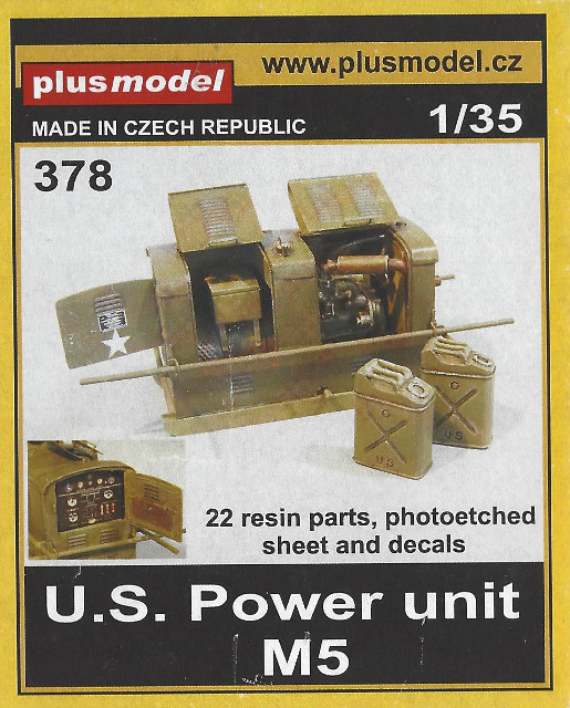 Box U.S. Power Unit M5 plus model 378 (1:35)