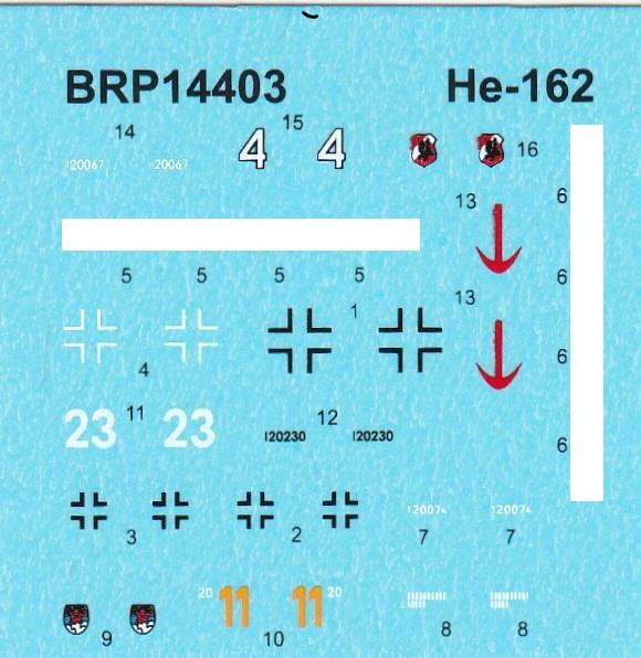 """Brengun-BRP-144003-He-162A-Salamander-1zu144-1 Heinkel He 162A """"Salamander"""" von Brengun (1:144) BRP 144003"""