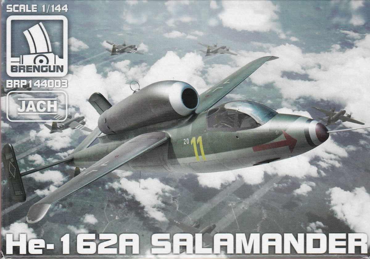 """Brengun-BRP-144003-He-162A-Salamander-1zu144-12 Heinkel He 162A """"Salamander"""" von Brengun (1:144) BRP 144003"""