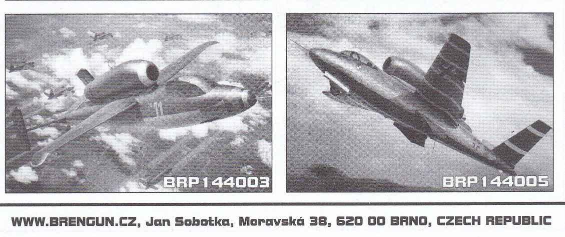 """Brengun-BRP-144003-He-162A-Salamander-1zu144-5 Heinkel He 162A """"Salamander"""" von Brengun (1:144) BRP 144003"""
