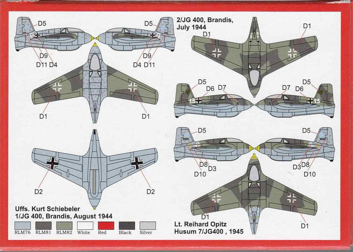 Brengun-BRP-144004-Me-163B-Komet-3 Messerschmitt Me 163B Komet von Brengun im Maßstab 1:144 BRP 144004