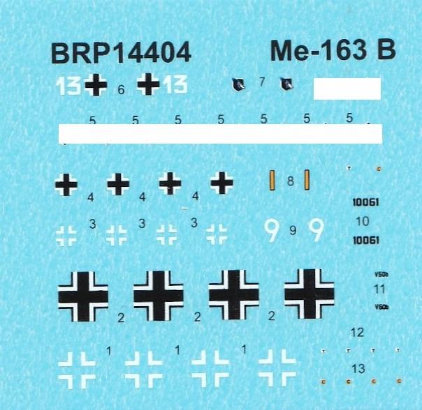 Brengun-BRP-144004-Me-163B-Komet-6 Messerschmitt Me 163B Komet von Brengun im Maßstab 1:144 BRP 144004