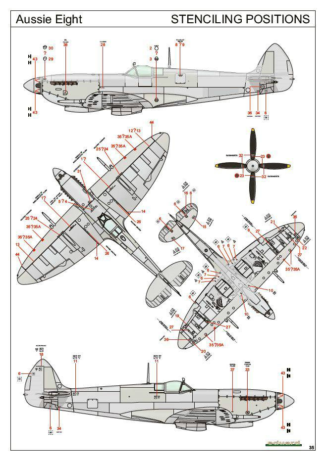 Eduard-2119-Spitfire-Mk.-VIII-Aussie-Eight-67 Aussie Eight (Spitfire Mk. VIII in Australian Service) von Eduard
