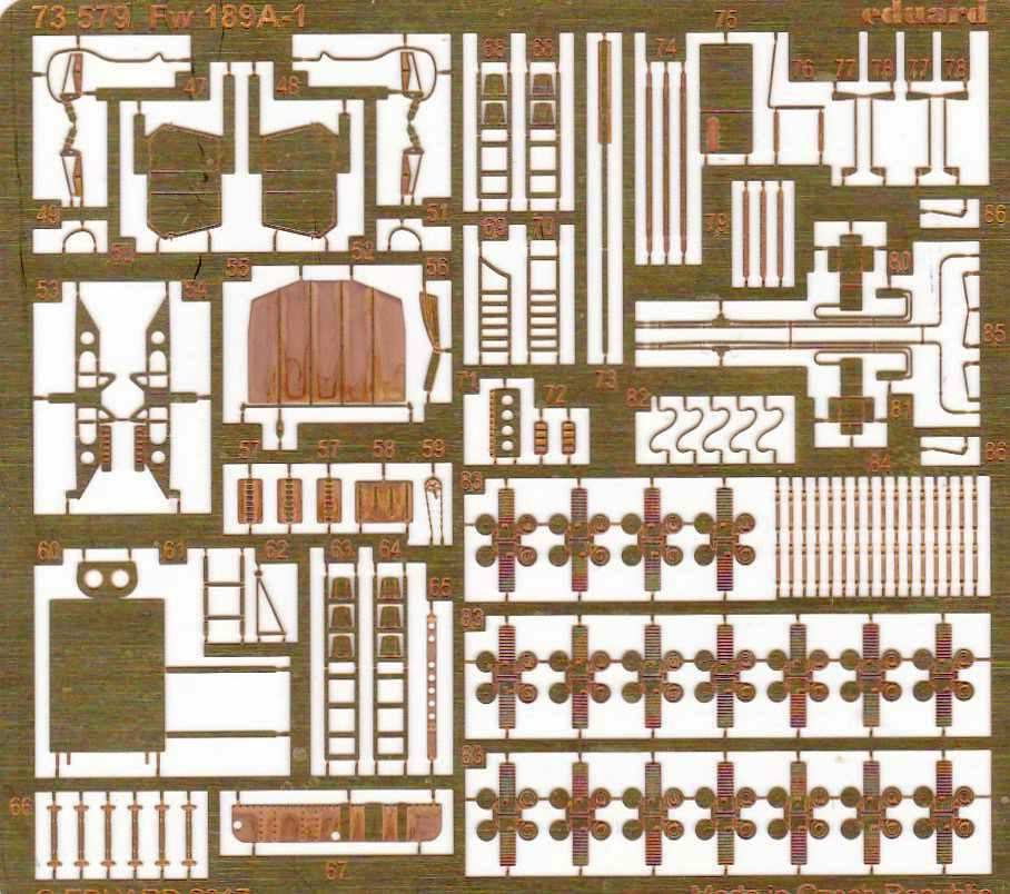 Eduard-73579-Fw-189A-1-Detail-set-1 Eduard Zubehör für die Fw 189A-1 Uhu von ICM im Maßstab 1:72