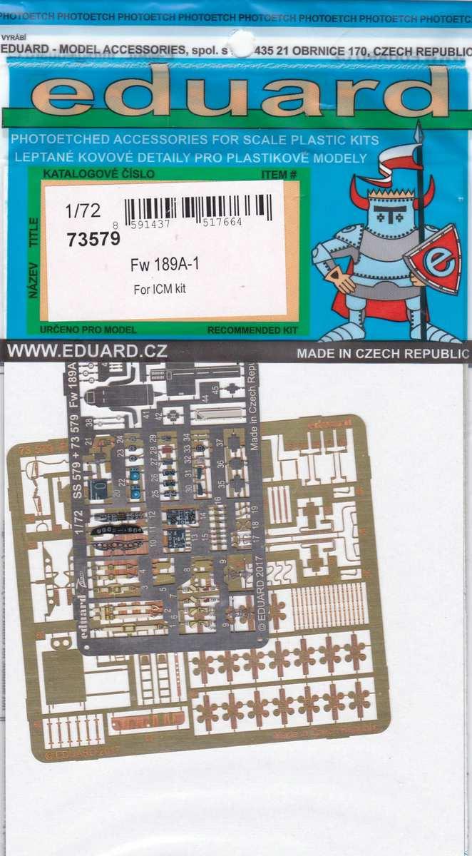 Eduard-73579-Fw-189A-1-Detail-set-2 Eduard Zubehör für die Fw 189A-1 Uhu von ICM im Maßstab 1:72