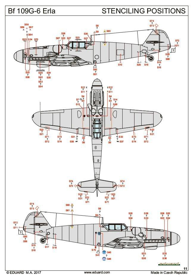Eduard-84142-Bf-109-G-6-Erla-7 Messerschmitt Bf 109 G-6 Erla von Eduard ( 84142 )