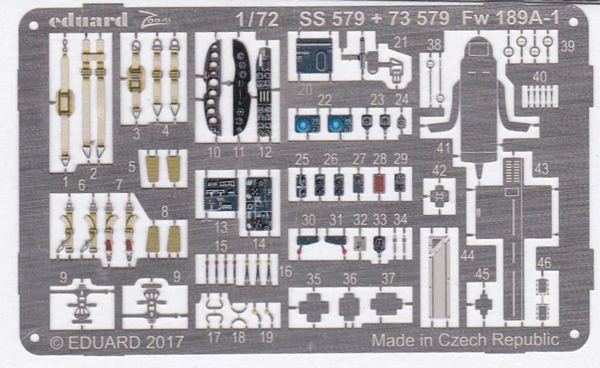 Eduard-SS-579-Fw-189A-1-ZOOM-2 Eduard Zubehör für die Fw 189A-1 Uhu von ICM im Maßstab 1:72