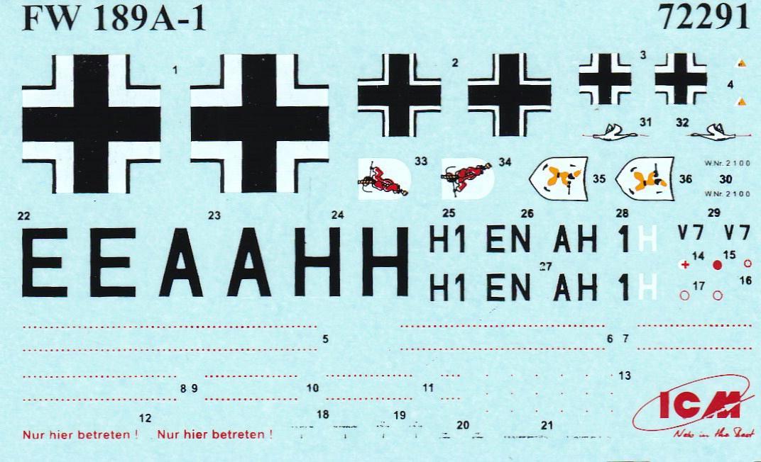 ICM-72291-Fw-189A-1-Uhu-40 Focke Wulf Fw 189 A-1 Uhu von ICM (1:72, # 72291 )