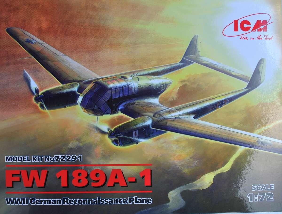 ICM-72291-Fw-189A-1-Uhu-9 Focke Wulf Fw 189 A-1 Uhu von ICM (1:72, # 72291 )