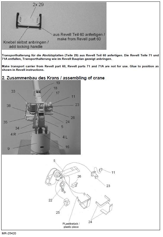 MR25420-5 Ladekran für MAN 10t milgl.1t ( Revell ) - 1/35 - MR Modellbau  --- #MR-35420