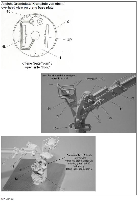 MR25420-7 Ladekran für MAN 10t milgl.1t ( Revell ) - 1/35 - MR Modellbau  --- #MR-35420