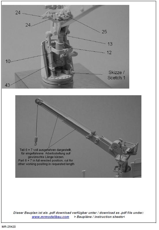 MR25420-8 Ladekran für MAN 10t milgl.1t ( Revell ) - 1/35 - MR Modellbau  --- #MR-35420