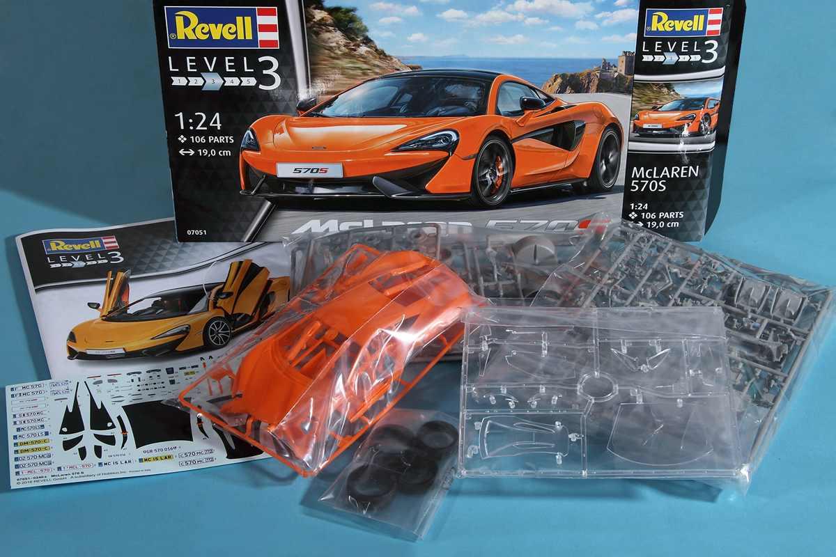 Revell-07051-McLaren-570S-15 McLaren 570S im Maßstab 1:24 von Revell